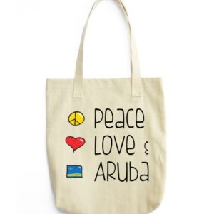 Peace Love Aruba canvas bag
