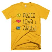 Peace Love and Aruba Men's Tee - Yellow