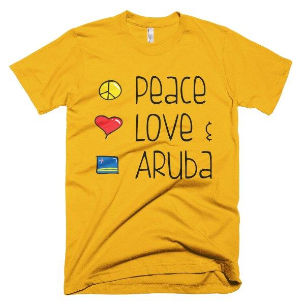 Peace Love and Aruba Men's Tee - Yellow