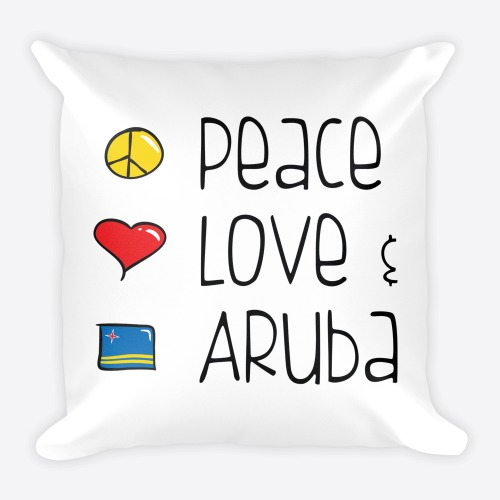 Peace Love and Aruba Pillow